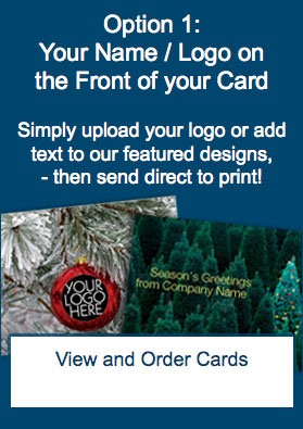 Your Name or Logo on the Front of your Card